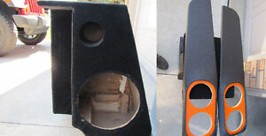 Ford Ranger custom speaker box and door panels