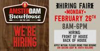Hiring Fair February 26th! Hiring all FOH & BOH!