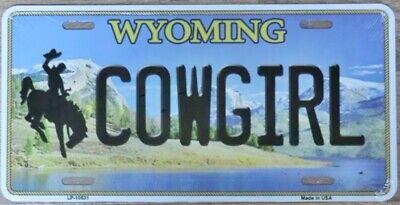 Nummernschild WYOMING COWGIRL 30x15cm USA Autoschild License Plate Blechschild