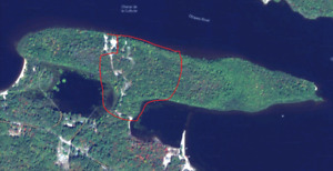 18 Acres Waterfront for Sale (approx 15 minutes from Pembroke)