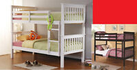 $389 - Twin/Twin Stackable Bunk Bed – Espresso or White