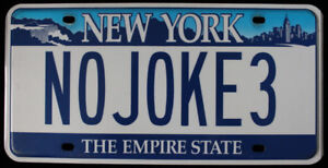 NEW YORK THE EMPIRE STATE NOVELTY LICENSE PLATE