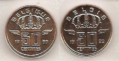 50 cent 1999 fr+vl * uit muntenset * FDC / UNC *
