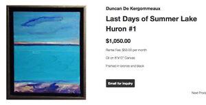 Original Duncan de Kergommeaux Oil Painting - Canadian Art London Ontario image 5