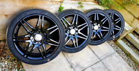 Genuine Mercedes Alloy Wheels/Tyres 18 Inch Recently Refurbished.