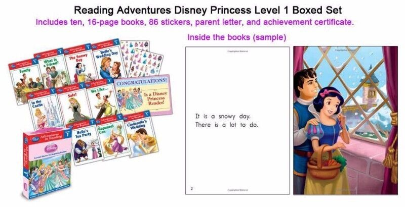BNIB: Reading Adventures Disney Princess Level 1 Boxed Set Paperback