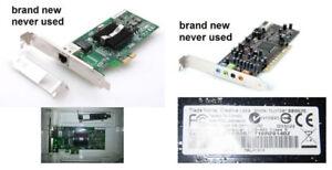 Intel PRO Network or Sound Card Creative Labs SB0570 PCI : 10$/1