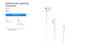 apple EarPods with lightning connector brand new never opened