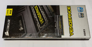 Sealed 8Gb Corsair Vengeance DDR3 PC1600 RAM. 2 available.