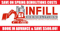 INFILL DEMOLITION - GARAGE - HOUSE - CONCRETE - FREE QUOTE!