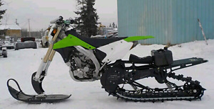 2008 KLX 450 with a 2011 timbersled short track AND long track!