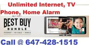 Unlimited high speed fibe internet, Business phone, cable tv @647-428-1515