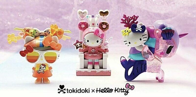 TOKIDOKI HELLO KITTY Sanrio 45TH ANNIVERSARY complete set 3 figures NEW