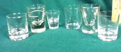 Unique shot glasses 6 clear glass plain shots shooters barware glassware AX2