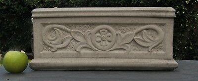 --Jardiniere Pflanzkasten CAMBRIDGE Sandstein Steinguß Blumenkasten 40 cm