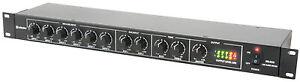 Adastra ML622 Rack Line 1U Mixer Sound System Install Bar Microphone Church