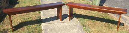 Pair of Vintage Wooden Bench Seats - Ideal for Verandah/Patio etc
