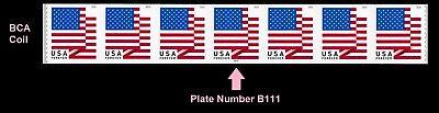 US Flag forever PNC7 BCA B111 MNH 2018