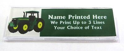 Tractor Custom Name Tag Badge Id Pin Magnet For Farmers Farm Sales Tractors