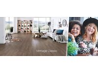 New Sealed 10mm Laminate Wood Flooring Krono Original Vintage Classic Dark Brown 17.3sq m 10 packs