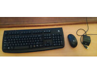 Wireless keyboard and mouse by Logitech