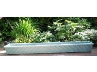 "LARGE WOODEN GARDEN PLANTER TROUGH. 88.5"" LONG X 10"" HIGH X 11.25"" DEEP"