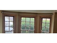 Bay Window Curtain rail rod and fixtures