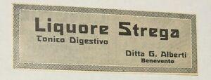 Pubblicita-1934-LIQUORE-STREGA-BENEVENTO-ITALY-old-advertising-publicite-reklame