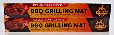2 Boxes of BEST BBQ Grill Mat for Gas, Charcoal & Electric Grills - 2 Mats