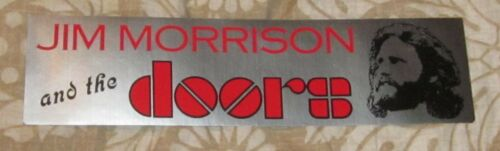RARE ORIGINAL JIM MORRISON & THE DOORS MUSIC/CONCERT BUMPER STICKER/DECAL