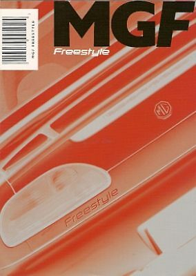 MG MGF Freestyle Limited Edition Prices & Options 2001 UK Market Folder Brochure