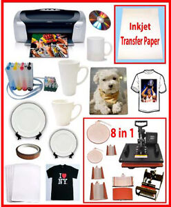 8in1 Heat Transfer Press,Epson C88+,CISS,400ml Sublimation Ink