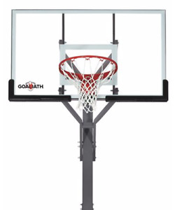 "Professional Style In-Ground Basketball Net - 54"" Tempered Glass"