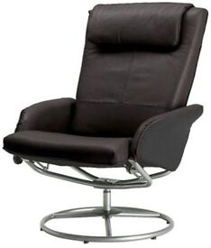 Leather Reclining Armchair (IKEA MALUNG)