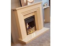 Marble fireplace suite gas or electric fire free down lights free delivery