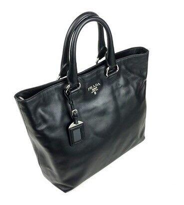817552d2526b PRADA Handbag Soft Calf Leather 2way Tote Bag NERO Black BN2865 - Authentic