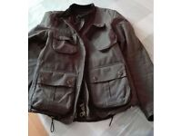 Barbour International short biker wax jacket (limited edition) Size S