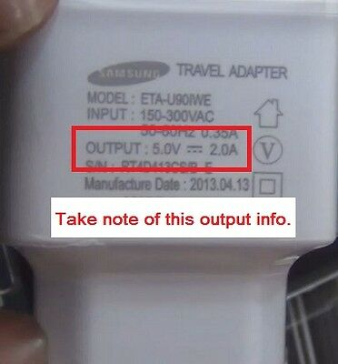 Samsung Galaxy S4 usb adapter specifications