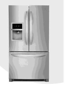 Réfrigérateur Kenmore 26,7 pi cu, Portes françaises, Machine à glace, Stainless