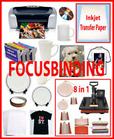 8in1 Sublimation Heat Press,Epson C88,Sublimation Ink Package
