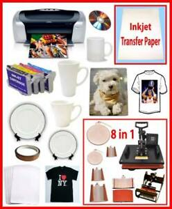 8in1 Sublimation Heat Press, Epson C88,Sublimation Ink Bundle