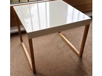 Habitat Kilo Bedside Table White laquer and wood