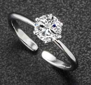 Crystal Shop Silver Plated SWA Element Zircon Wedding Ring