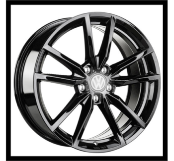 vw golf style gtr 19 inch wheels and tyre package machined black Ultima Sports Car vw golf wolfsburg edition style 19 inch black wheels and tyres