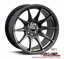 SUBARU 17 INCH STAGGERED 527 CHROMIUM BLACK PACKAGE SALE Banksia Rockdale Area Preview