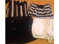 Ladies size 8 bundle inc warehouse , miss selfridge, Dorothy Perkins, jeans tops jacket coat shorts
