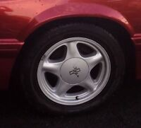 Mustang Pony rims in mint condition with new tires
