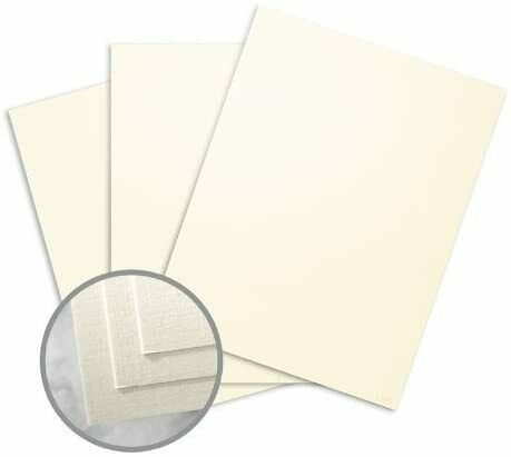 CLASSIC Linen Natural White Pearl Card Stock - 8 1/2 x 11 in 84 lb Cover