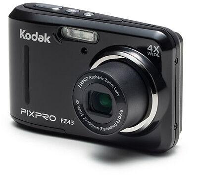 Kodak Pixpro FZ43 Digitalkamera 6,8cm/2,7'' 16MP HD 4x Optischer Zoom Schwarz