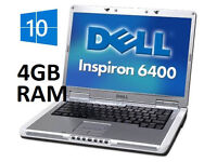 Legendary Dell inspiron 6400 4gb ram 80gb hdd Windows 10 Pro Pc Laptop